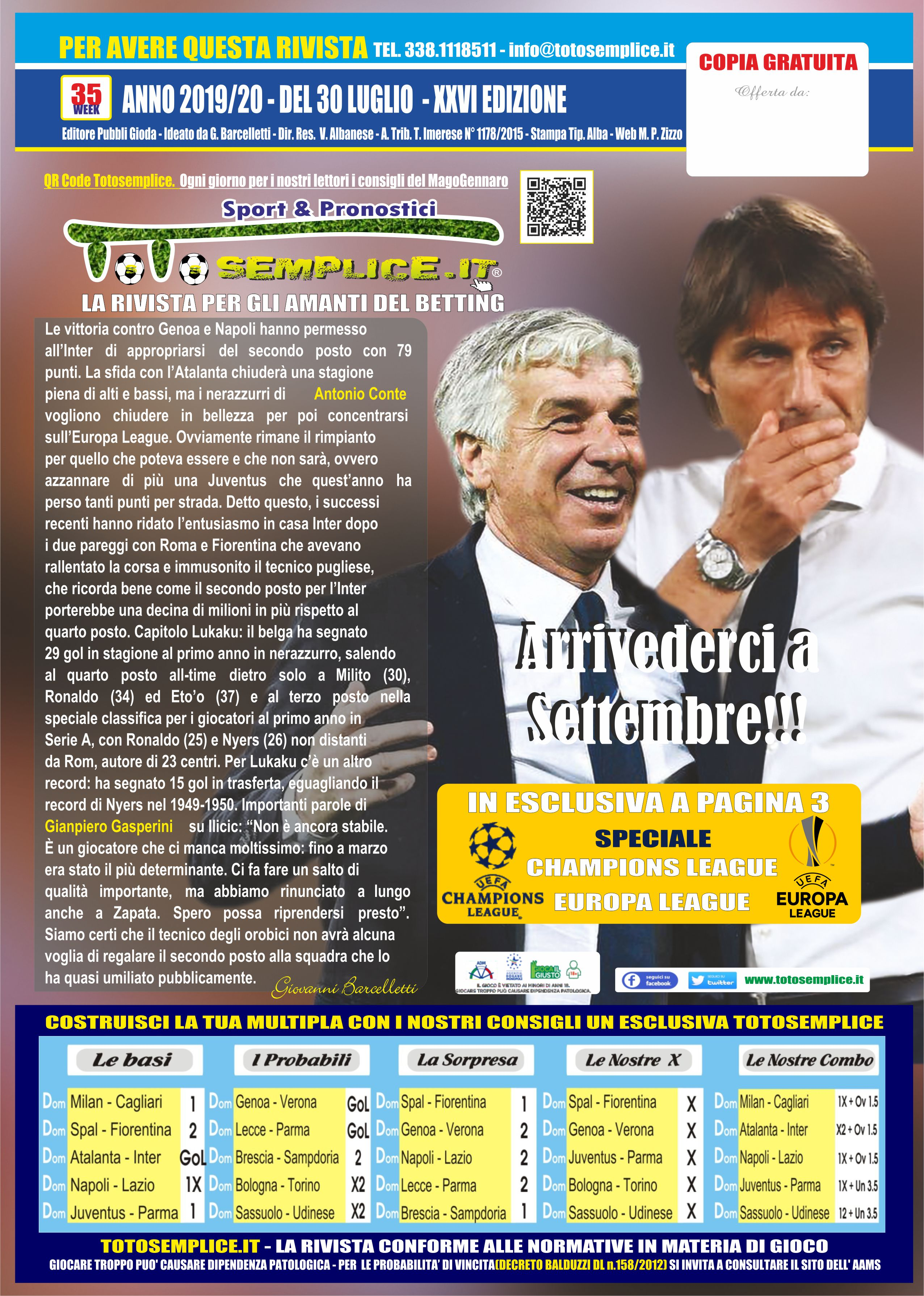 Totosemplice.it | Scarica il giornale